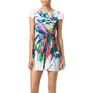 SLATE & WILLOW Derek Printed Mini Dress